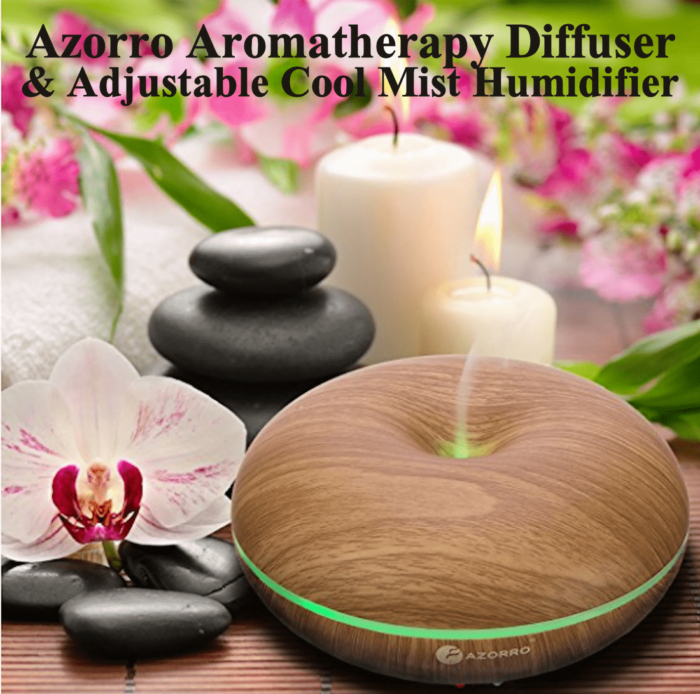 Azorro Aromatherapy Diffuser & Cool Mist Humidifier for Mom