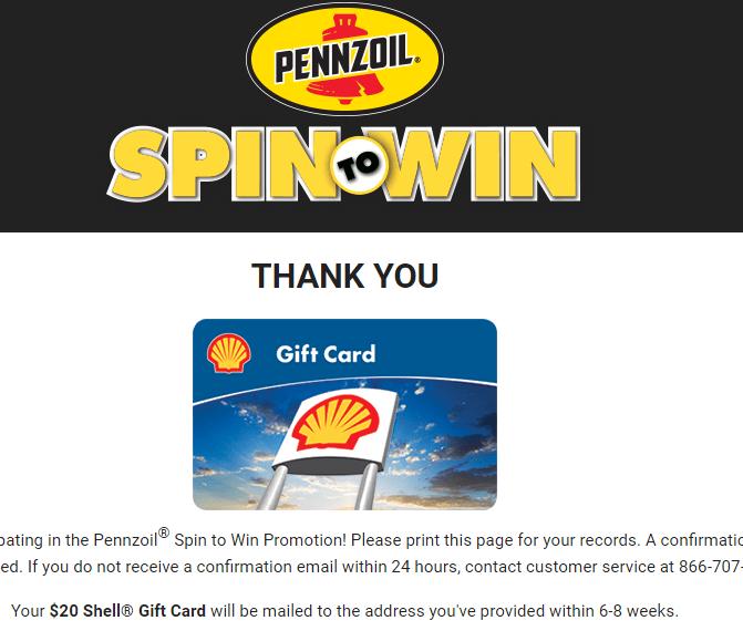 Pennzoil Spin