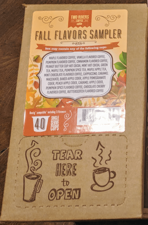 Two Rivers Coffee Fall Flavors Sampler