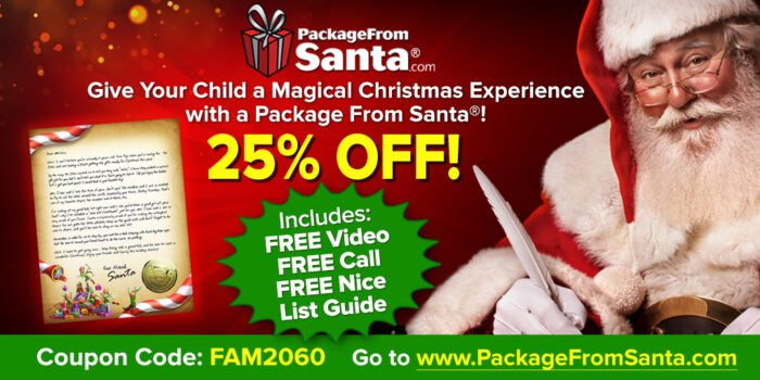 Package From Santa 25% OFF – FREE From Santa!